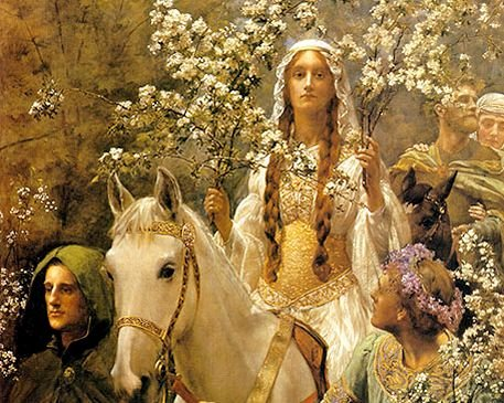 John_Collier_Queen_Guinevres_Maying-Ed